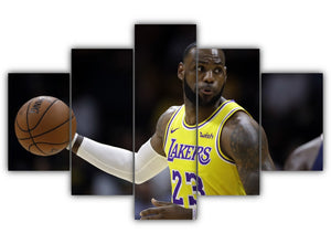 Multi Panel LeBron James Split Grouped Wall Canvas Art