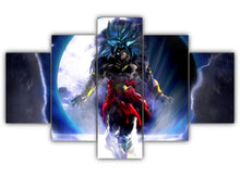 Load image into Gallery viewer, Multi Panel Legendary Super Saiyan Split Grouped Wall Canvas Art