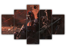 Load image into Gallery viewer, Multi Panel Mando and IG 11 Split Grouped Wall Canvas Art