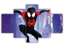 Load image into Gallery viewer, Multi Panel Miles Morales Split Grouped Wall Canvas Art
