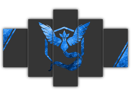 Multi Panel Team Mystic Split Grouped Wall Canvas Art