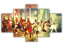 Load image into Gallery viewer, Multi Panel NBA Legends Split Grouped Wall Canvas Art