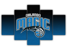 Load image into Gallery viewer, Multi Panel Orlando Magic Split Grouped Wall Canvas Art