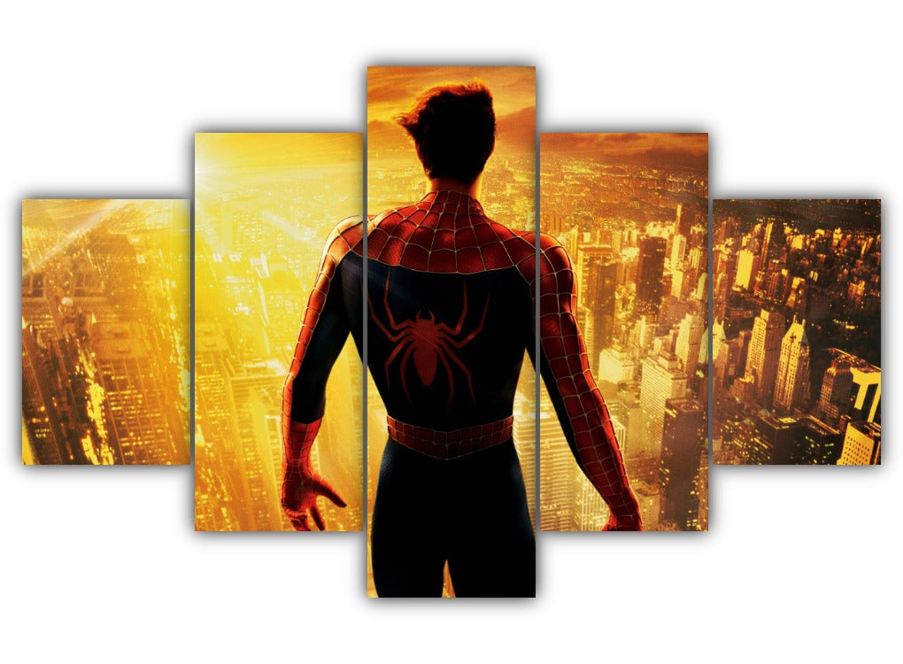 Multi Panel Peter Parker Split Grouped Wall Canvas Art
