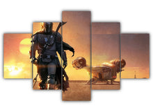 Load image into Gallery viewer, Multi Panel Razor Crest Split Grouped Wall Canvas Art
