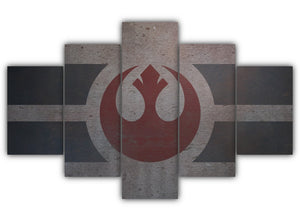 Multi Panel Rebel Alliance Flag Split Grouped Wall Canvas Art
