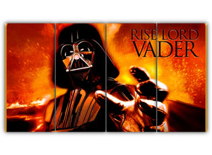 Multi Panel Rise Lord Vader Split Grouped Wall Canvas Art
