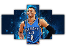 Load image into Gallery viewer, Multi Panel Russell Westbrook Split Grouped Wall Canvas Art