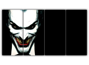 Multi Panel Scary Joker Split Grouped Wall Canvas Art