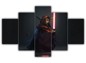 Multi Panel Sith Lord Yoda Split Grouped Wall Canvas Art