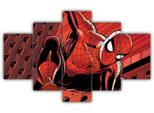 Load image into Gallery viewer, Multi Panel Spiderman Split Grouped Wall Canvas Art