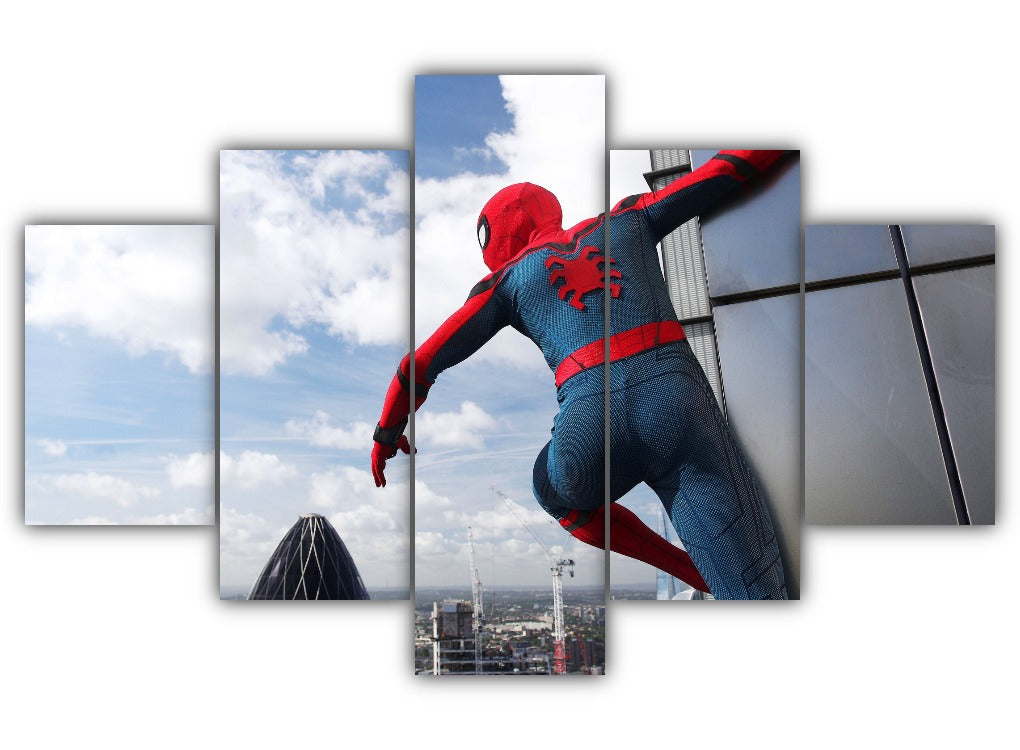Multi Panel Spiderman Homecoming Split Grouped Wall Canvas Art