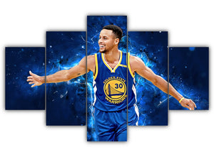 Multi Panel Stephen Curry Split Grouped Wall Canvas Art