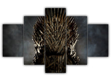 Load image into Gallery viewer, Multi Panel The Iron Throne Split Grouped Wall Canvas Art