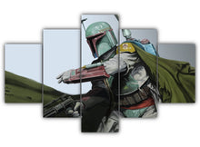 Load image into Gallery viewer, Multi Panel The Legend Boba Fett Split Grouped Wall Canvas Art