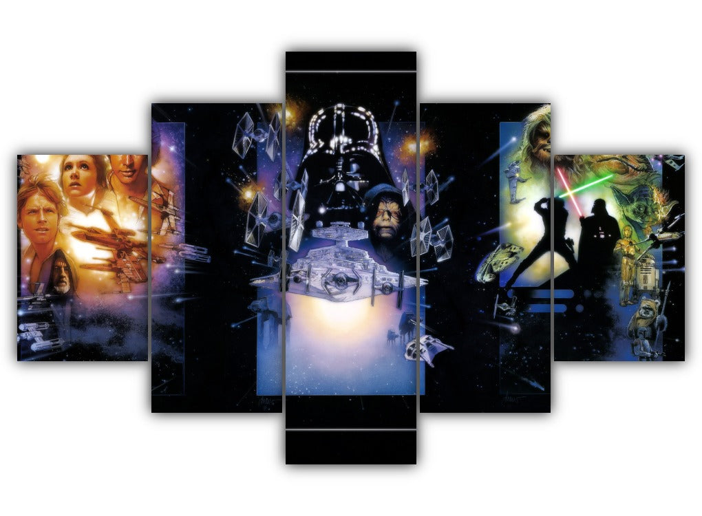 Multi Panel The Star Wars Trilogy Split Grouped Wall Canvas Art