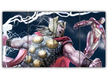 Load image into Gallery viewer, Multi Panel Thor And Iron Man Split Grouped Wall Canvas Art
