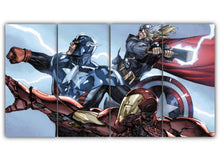 Load image into Gallery viewer, Multi Panel Thor Captain America Iron Man Split Grouped Wall Canvas Art