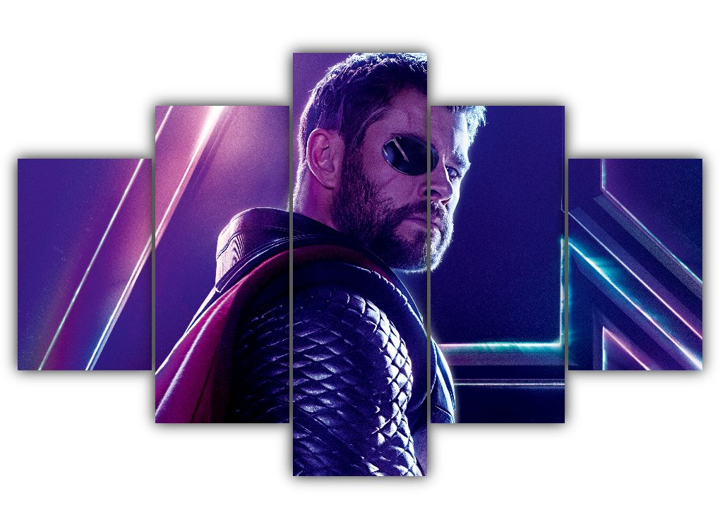 Multi Panel Thor Eye-Patch Split Grouped Wall Canvas Art