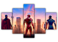 Load image into Gallery viewer, Multi Panel Thor Iron Man Captain America Split Grouped Wall Canvas Art