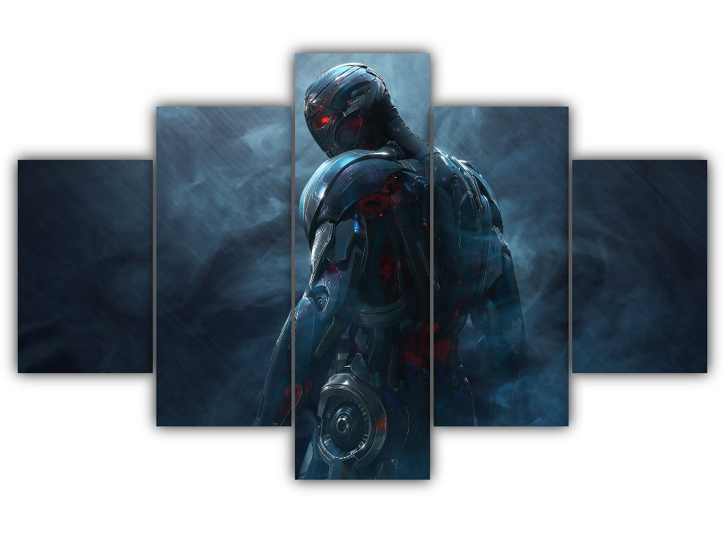 Multi Panel Ultron Split Grouped Wall Canvas Art