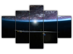 Multi Panel Underneath The Planet Split Grouped Wall Canvas Art