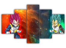 Load image into Gallery viewer, Multi Panel Vegeta Split Grouped Wall Canvas Art