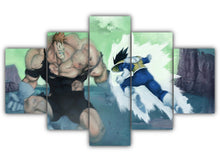Load image into Gallery viewer, Multi Panel Vegeta Vs Recoome Split Grouped Wall Canvas Art