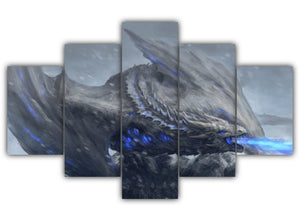 Multi Panel White Walkers In Action Split Grouped Wall Canvas Art