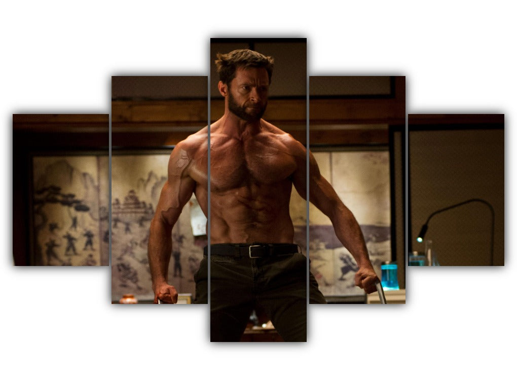 Multi Panel Wolverine Split Grouped Wall Canvas Art