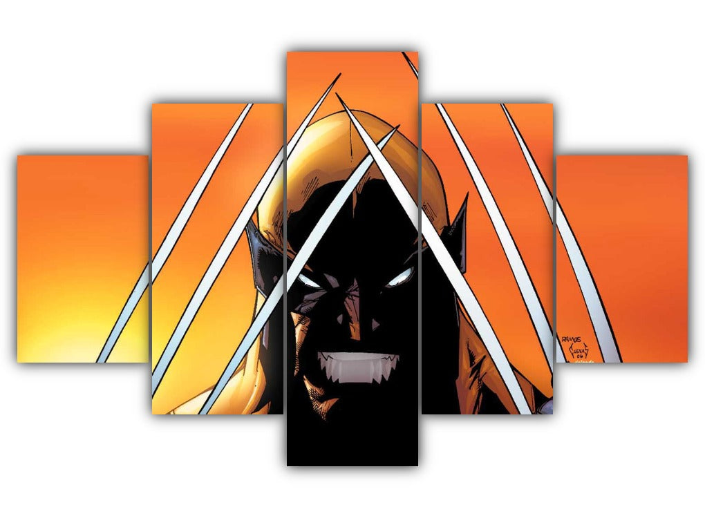 Multi Panel Wolverine Claws Split Grouped Wall Canvas Art