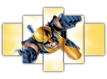 Load image into Gallery viewer, Multi Panel Wolverine artwork Split Grouped Wall Canvas Art