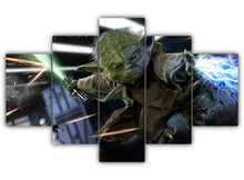 Load image into Gallery viewer, Multi Panel Yoda the mighty Jedi Split Grouped Wall Canvas Art