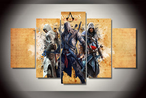 Multi Panel Assassins Creed Split Grouped Wall Canvas Art