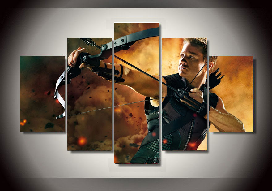 Multi Panel Hawkeye Split Grouped Wall Canvas Art