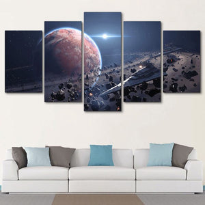 Multi Panel Star Destroyer Split Grouped Wall Canvas Art