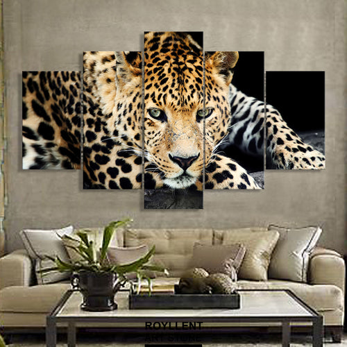 Multi Panel Cheetah Split Grouped Wall Canvas Art