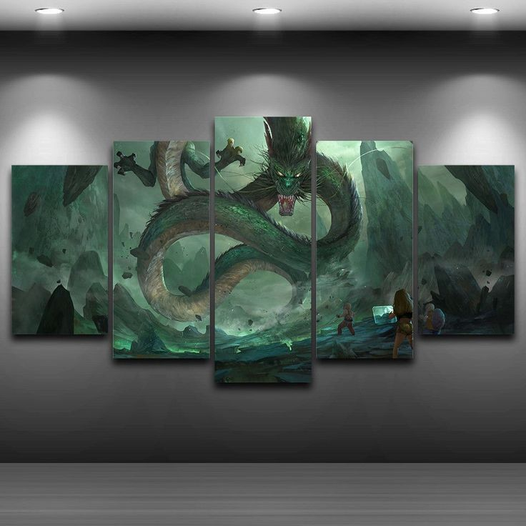 Multi Panel Dragon Ball Z Split Grouped Wall Canvas Art