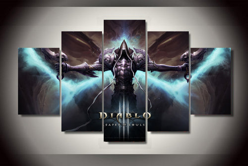 Multi Panel Diablo 3 Reaper of Souls Split Grouped Wall Canvas Art