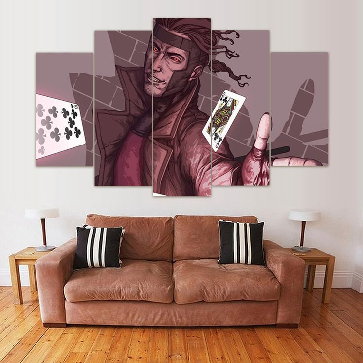 Multi Panel Gambit Split Grouped Wall Canvas Art