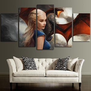 Multi Panel Daenerys Targaryen Split Grouped Wall Canvas Art