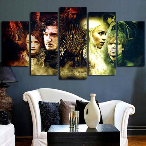 Multi Panel Game Of Thrones Iron Throne Split Grouped Wall Canvas Art