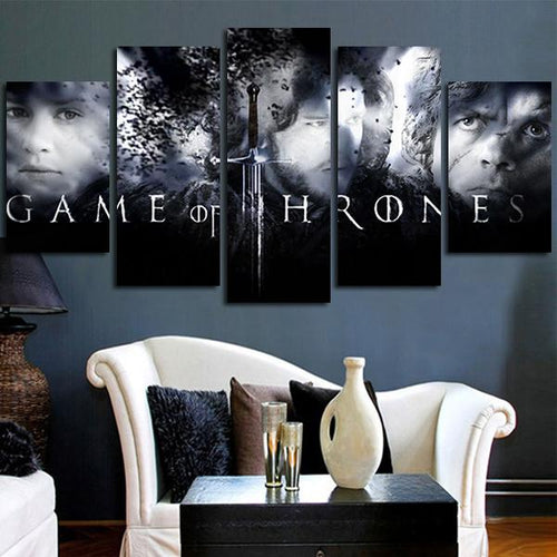 Multi Panel Game Of Thrones Split Grouped Wall Canvas Art