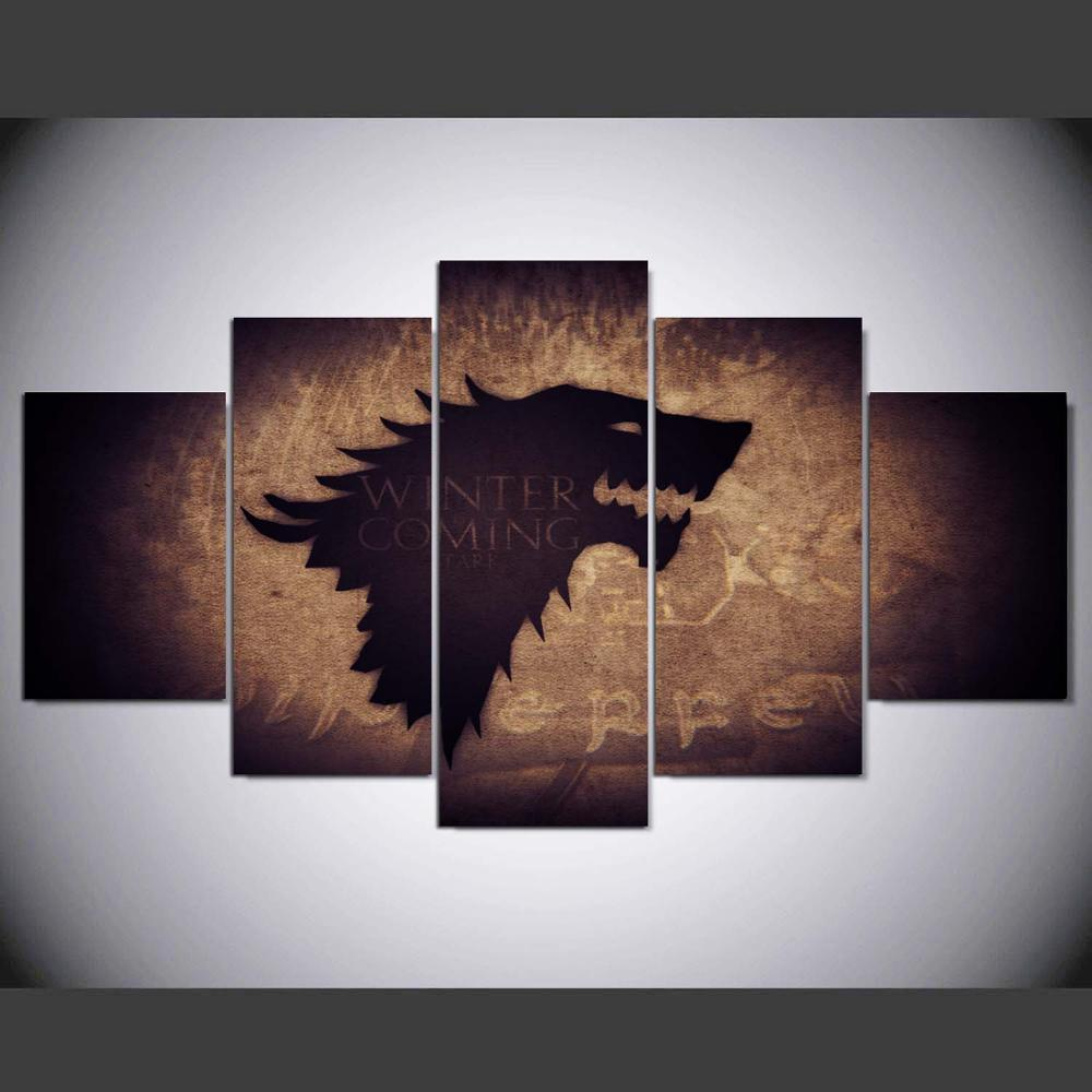 Multi Panel House Stark Split Grouped Wall Canvas Art