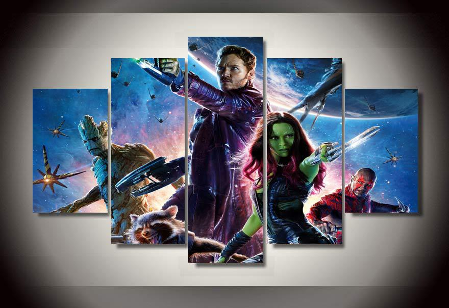 Multi Panel Guardians of the Galaxy Split Grouped Wall Canvas Art