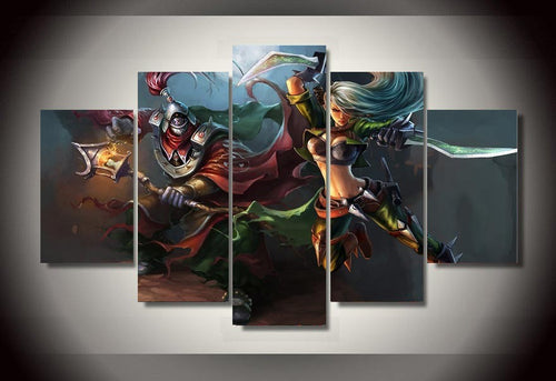 Multi Panel League Of Legends Split Grouped Wall Canvas Art