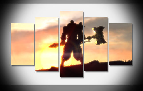 Multi Panel League Of Legends Jayce Split Grouped Wall Canvas Art