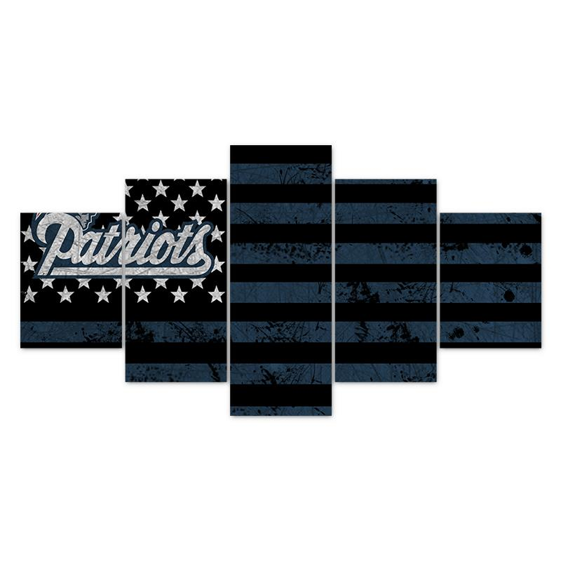 Multi Panel NFL New England Patriots Split Grouped Wall Canvas Art