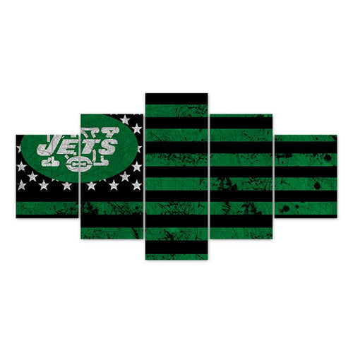 Multi Panel NFL New York Jets Split Grouped Wall Canvas Art
