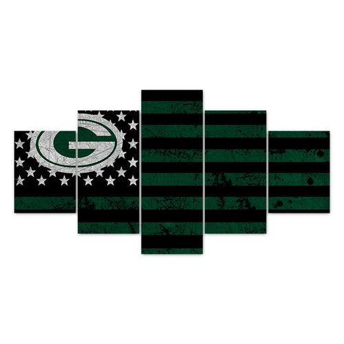 Multi Panel NFL Green Bay Packers Split Grouped Wall Canvas Art